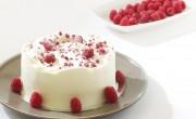 tarta de frambuesa y queso crema