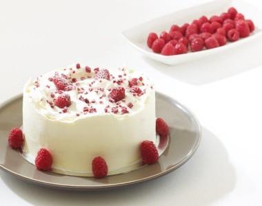 Raspberry Cake and Cheese Cream