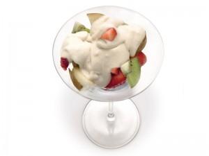fruta con crema canaria