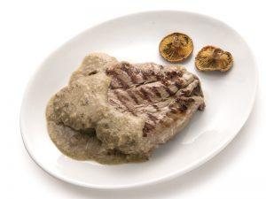Receta Buey con salsa de boletus y foie