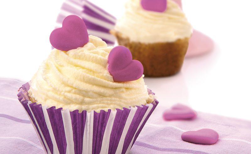 receta cupcake corazón de queso
