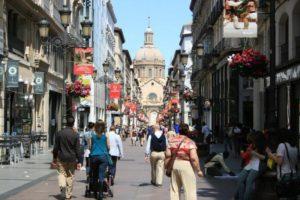 Zaragoza, calle hacia el Pilar