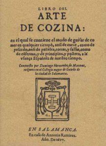 libro de cozina de Domingo Hernández de Maceras