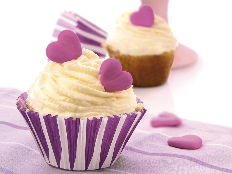 Cupcake Corazón de Queso