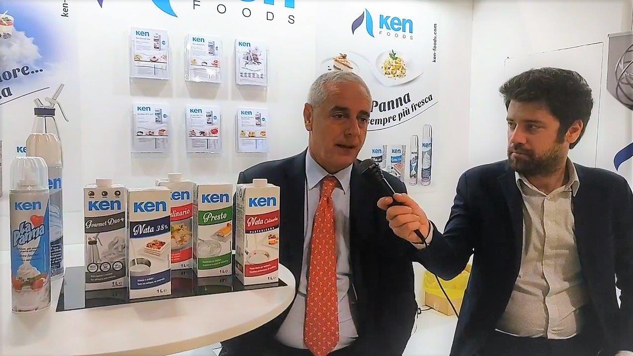 Giuseppe Conti, Dtor. Comercial de Internacional, entrevistado en la Feria Tutto Food de Milán